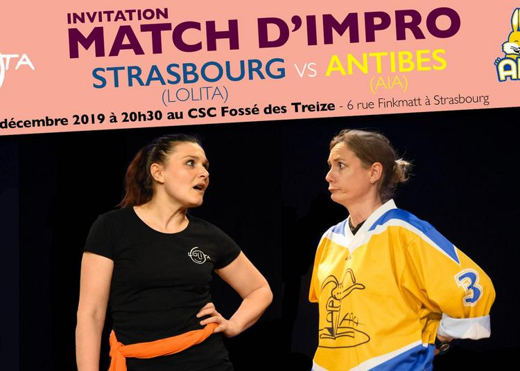Match d'impro : Strasbourg - Antibes