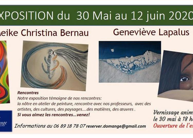 Meike Christina Bernau et Geneviève Lapalus exposent à Domange à Ige