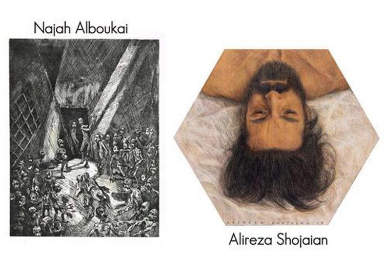 Najah Alboukai et Alireza Shojaian - Ombres d'hommes à Nice