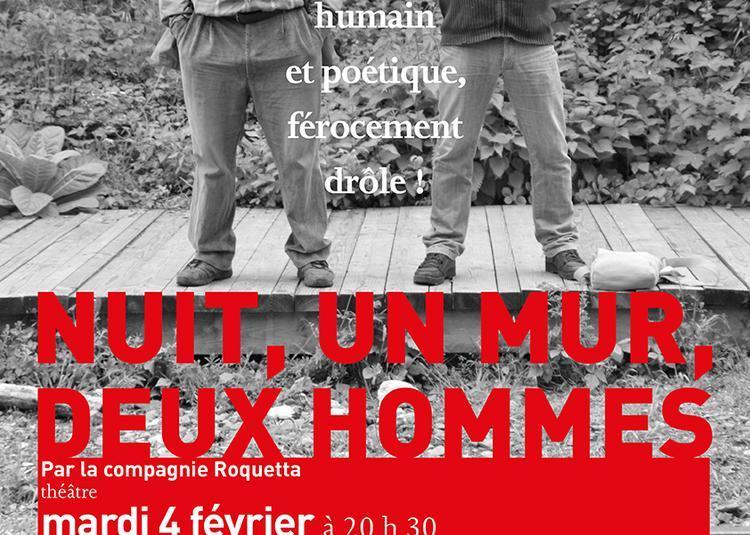 Nuit, un mur, deux hommes à Auxerre