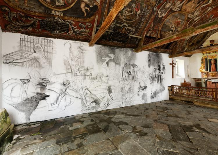 Oeuvre Contemporaine De Marc Bauer À La Chapelle Sainte-tréphine à Pontivy