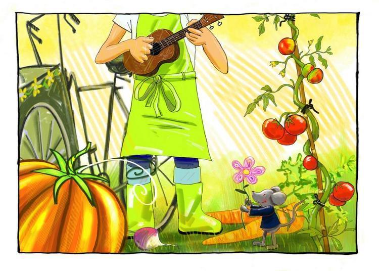 Olivier, le petit jardinier à l'Atelier Média de Carvin