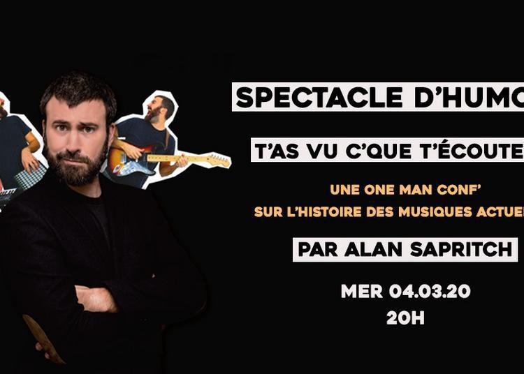 One Man Conf' T'as vu c'que t'écoutes ? Spectacle d'humour sur l'Histoire des Musiques Actuelles à Sceaux