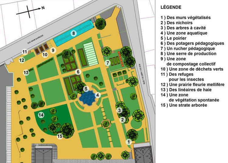 Parcours Biodiversité Dans Le Jardin De L'institut à Paris 5ème