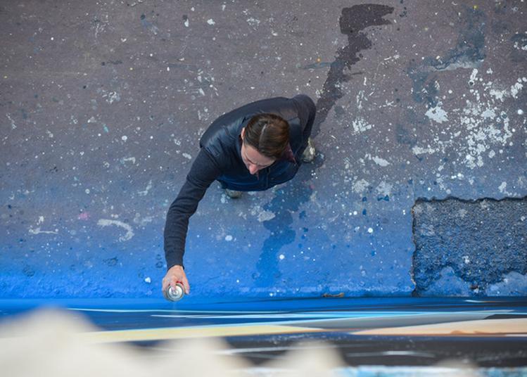 Performance De Street Art En Live Par L'artiste Valer à Mousson