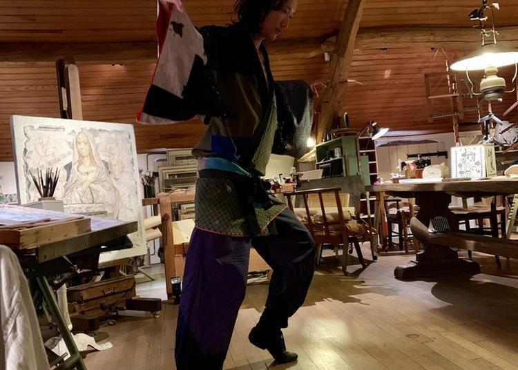 Performance Du Danseur Yoshitaka Susuki à Villiers le Bacle