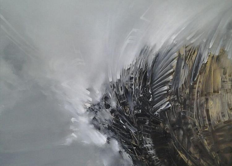 Performance du peintre Arnaud Provost à Paris 2ème