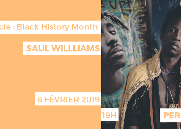 Performance Spoken Word : Saul Williams à Paris 16ème