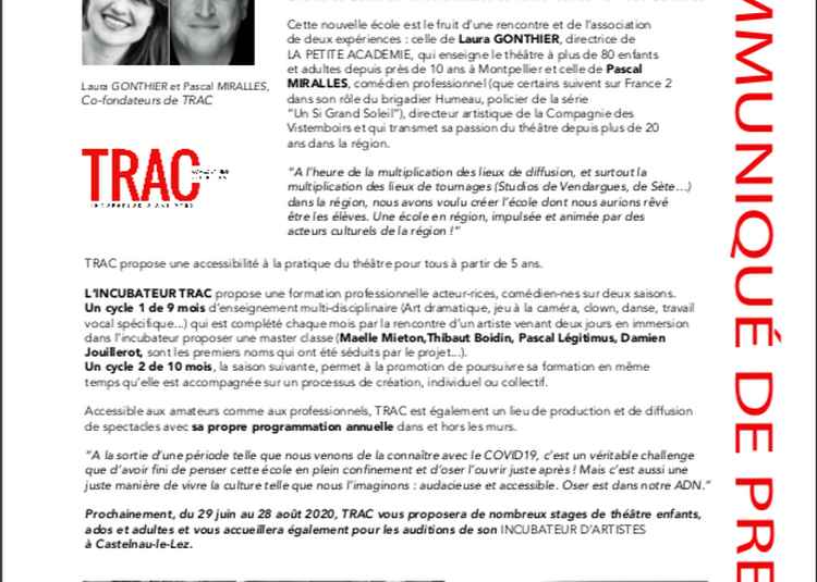 TRAC à Montpellier