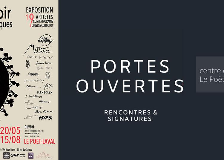Portes ouvertes du centre d'art avec rencontres et signatures des artistes exposés à Le Poet Laval