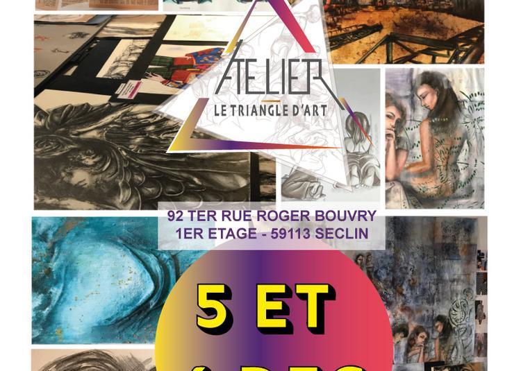 Portes ouvertes, inauguration de l'atelier le Triangle d'Art à Seclin