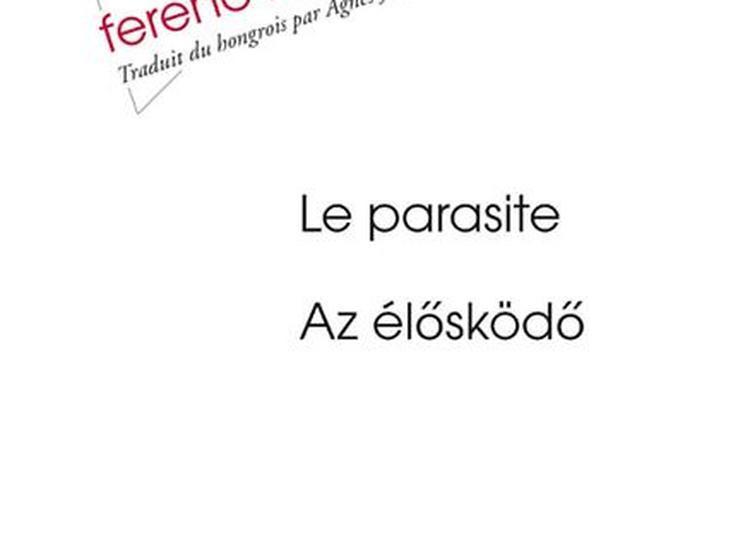 Présentation de livre : Le Parasite - Az él?sköd? à Paris 6ème