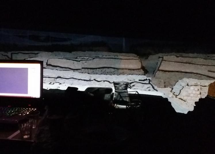 Projection : Mapping Vidéo Sur Les Vestiges Du Forum à Vieux