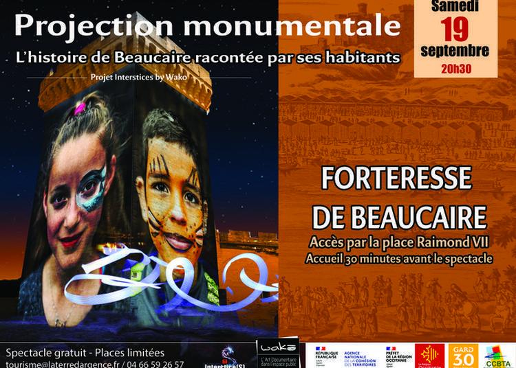 Projection Monumentale Interstices à Beaucaire