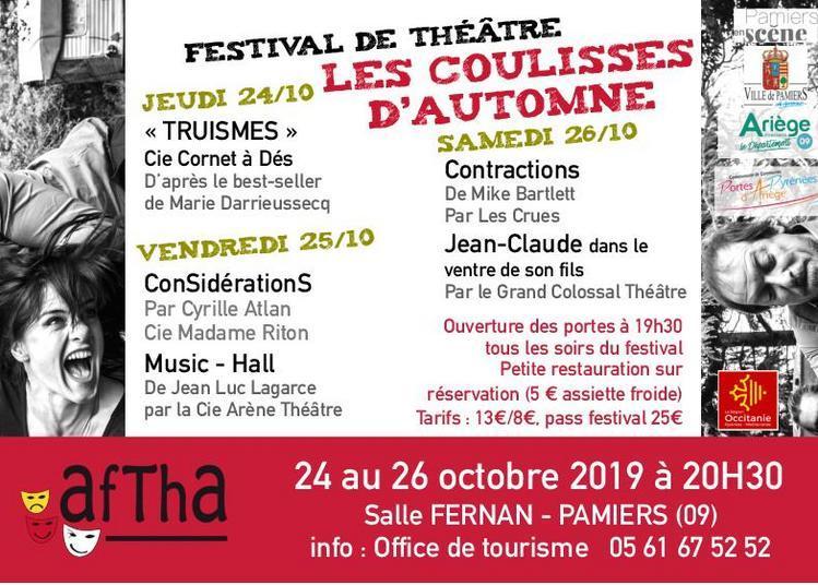 Festival de théâtre Coulisses d'Automne 2019