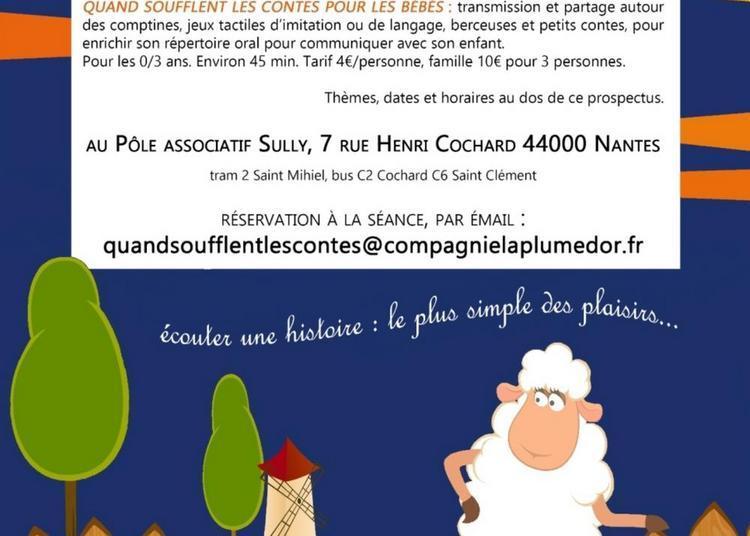 Quand soufflent les contes pour les bébés : Les p'tites bêtes, ça chatouille à Nantes