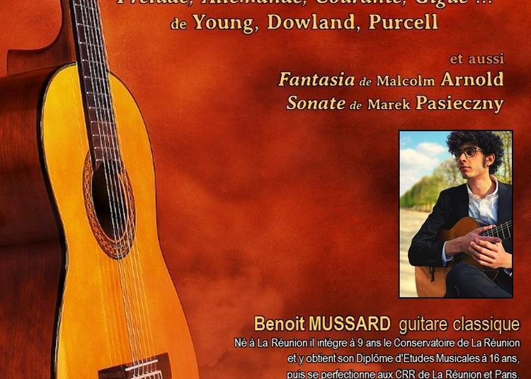 Récital de Guitare : Musique Baroque Anglaise à Paris 8ème