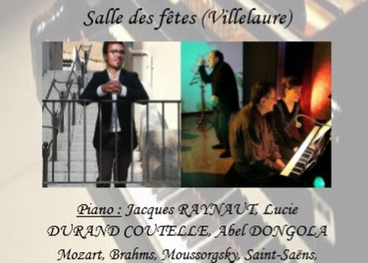 Récital Piano 4 Mains Jacques Raynaut/lucie Durand Coutelle/abel Dongola à Villelaure