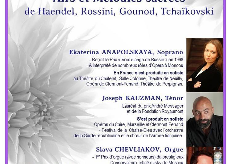 Récital  Soprano, Ténor & Orgue : par les Solistes de Moscou à Paris 8ème