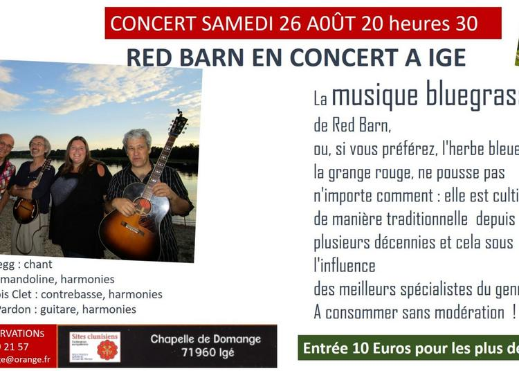 Red Barns ou les Granges Rouges bluegrass à Ige