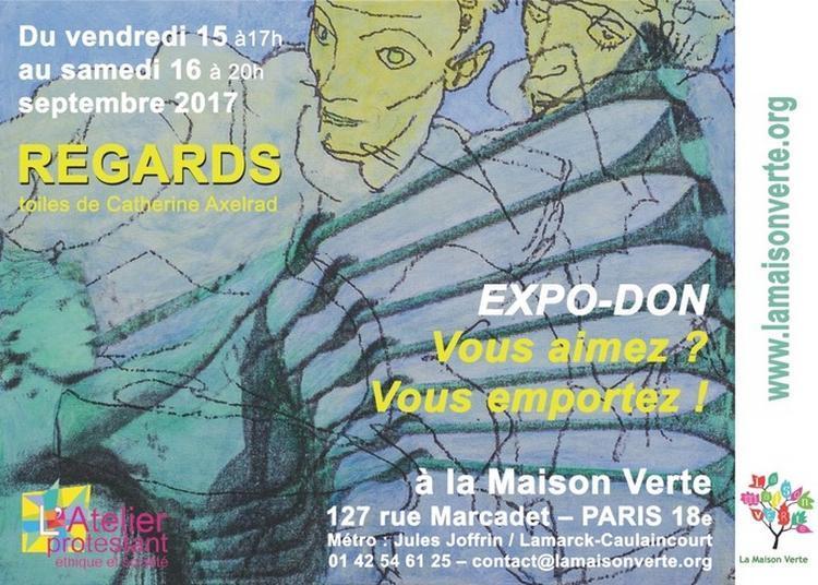 Regards - Toiles De Catherine Axelrad à Paris 18ème