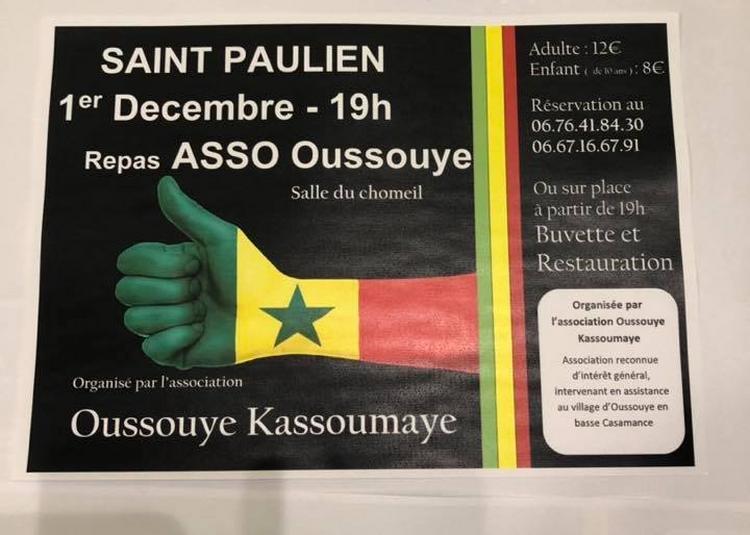 Repas sénégalais organisé par l'association OUssouye Kassoumaye à Saint Paulien