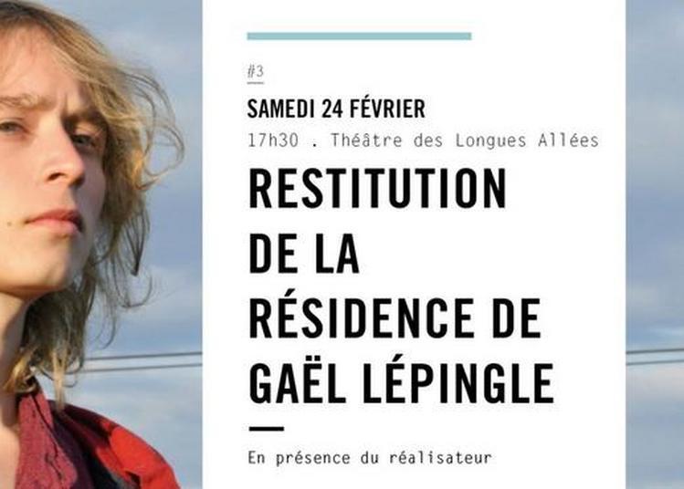 Restitution de la résidence de Gaël Lépingle à Saint Jean de Braye