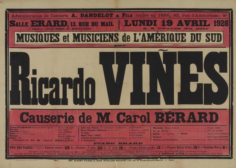 Ricardo Viñes en concert : l'affiche musicale à Paris (1897-1936) à Narbonne