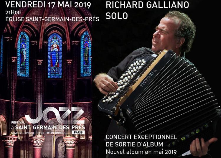 Richard Galliano récital d'accordéon à Paris 6ème