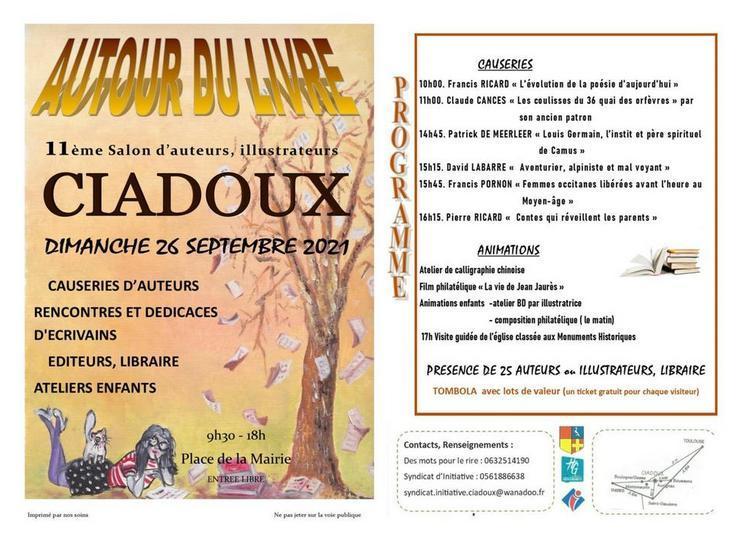 Salon Autour du livre en Comminges à Ciadoux 31 2021