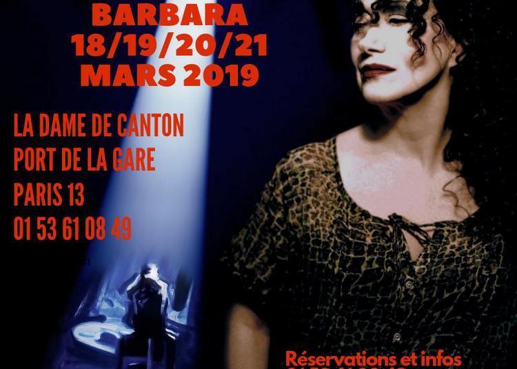 Sapho chante Barbara à Paris 13ème