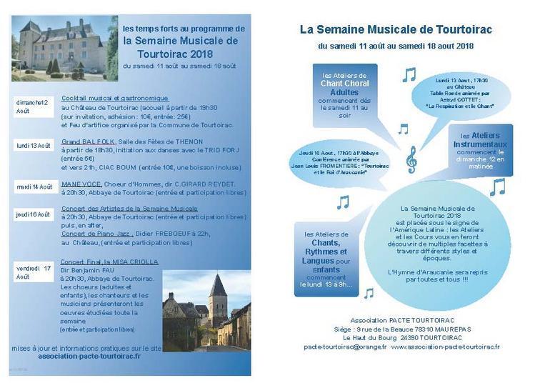 Semaine musicale de tourtoirac à Tourtoirac