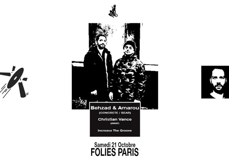 Skylax x Folies Paris : Behzad & Amarou, Christian Vance, Increase the Groove à Paris 9ème