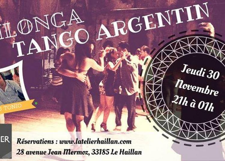 Soirée Milonga, Tango Argentin avec Dj Tonio à Le Haillan