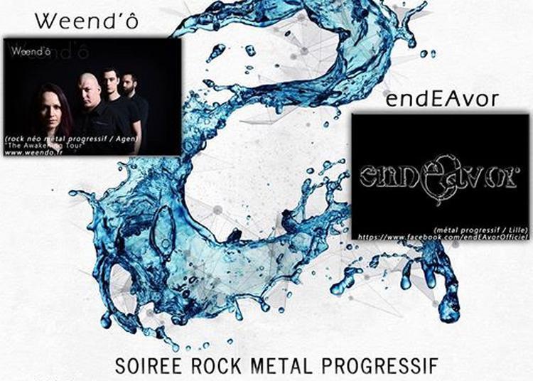 Soiree Rock Metal Progressif Weendo Et Endeavor à Lille