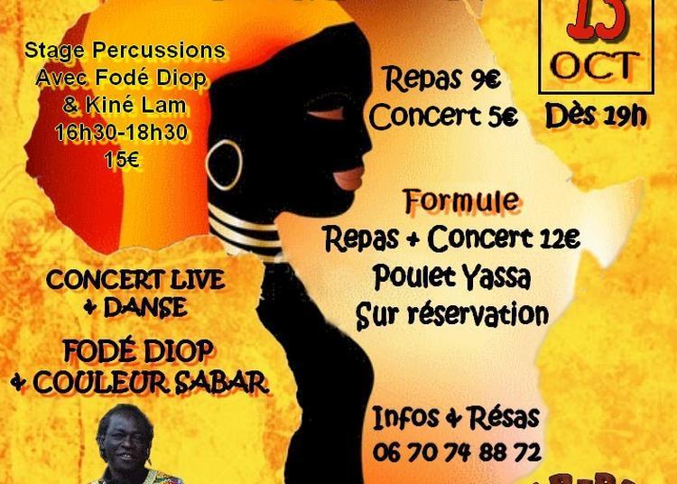 Soirée Sud France Sénégal | Concert Fodé Diop & Couleur Sabar à Montpellier