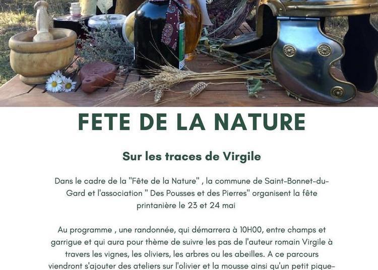 Fete de la naturesous les pas de virgile à Saint Bonnet du Gard