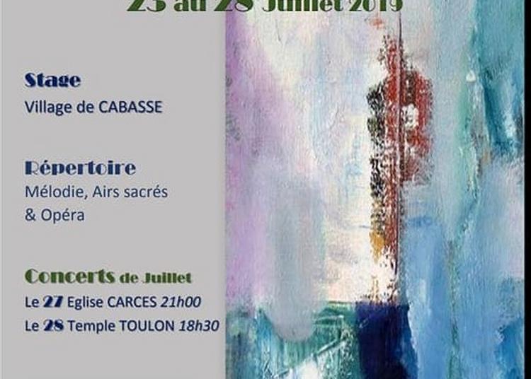 Stage Chant Lyrique/Théâtre/Concerts à Cabasse