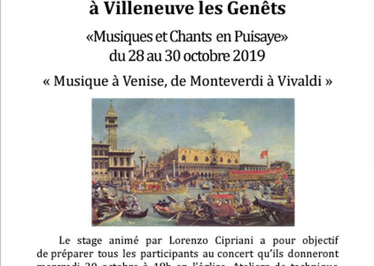 Stage Musique et Chants dans la Puisaye à Villeneuve les Genets