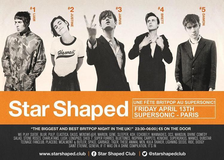 Star Shaped Club Paris - Une Fête Britpop à Paris 12ème