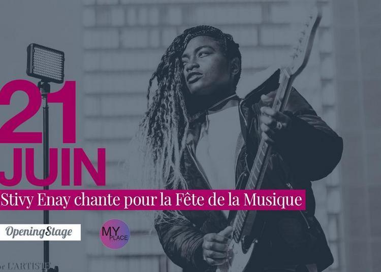 Stivy Enay chante pour la fête de la musique ! à Sarcelles