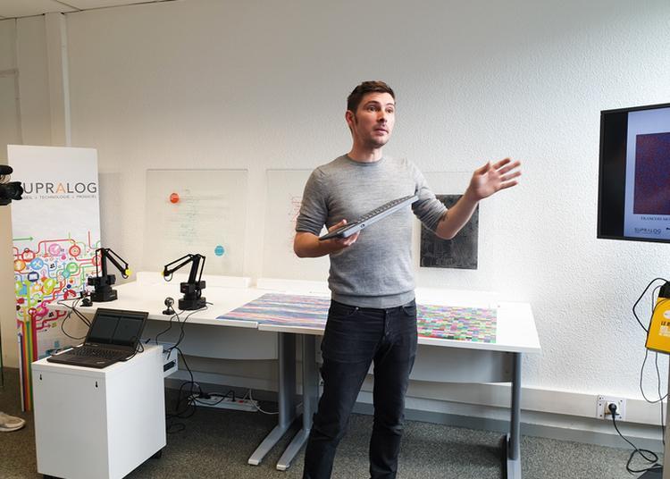 Vernissage De La Restitution De L'artiste Mathieu Schmitt, Accueilli En Résidence à L'eac. En 2019 à Mouans Sartoux