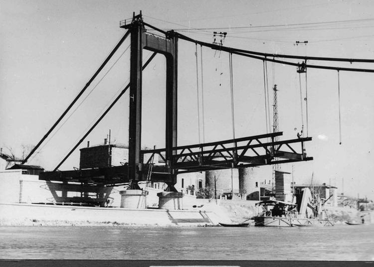 Vidéo-projection Reconstruction Du Pont De Serrières 1949-1951 à Serrieres