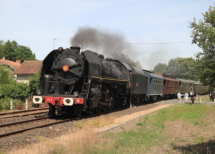 Visite à Bord De La Locomotive à Vapeur 141.r.840 à Orléans