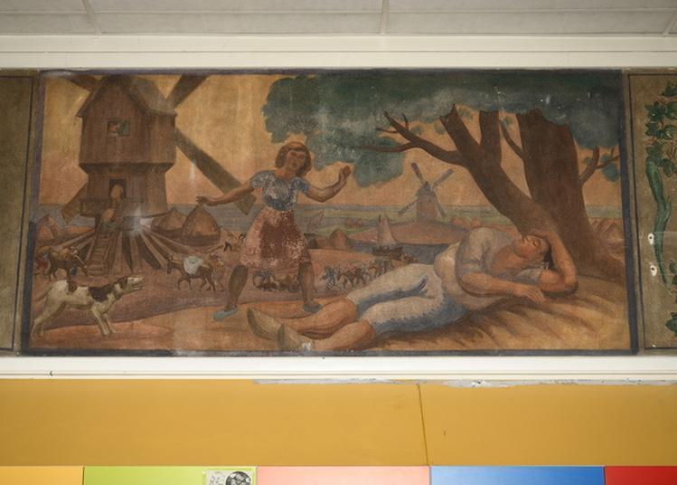 Visite Commentée Des Fresques De L'école Maternelle De La Rue De Romainville à Paris 19ème