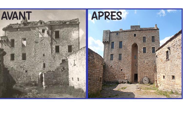 Visite D'un Château Entièrement Restauré Grâce À 20 Ans De Chantiers De Bénévoles à Gissac