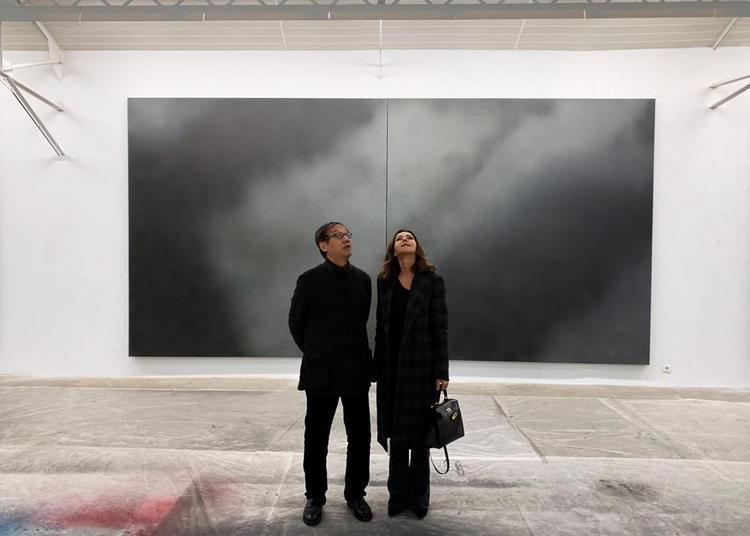 Visite de l'atelier de Jiang Dahai à Paris 7ème