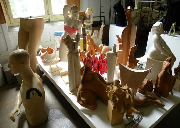 Visite De L'atelier Du Sculpteur Pierre Vallauri à Jouques