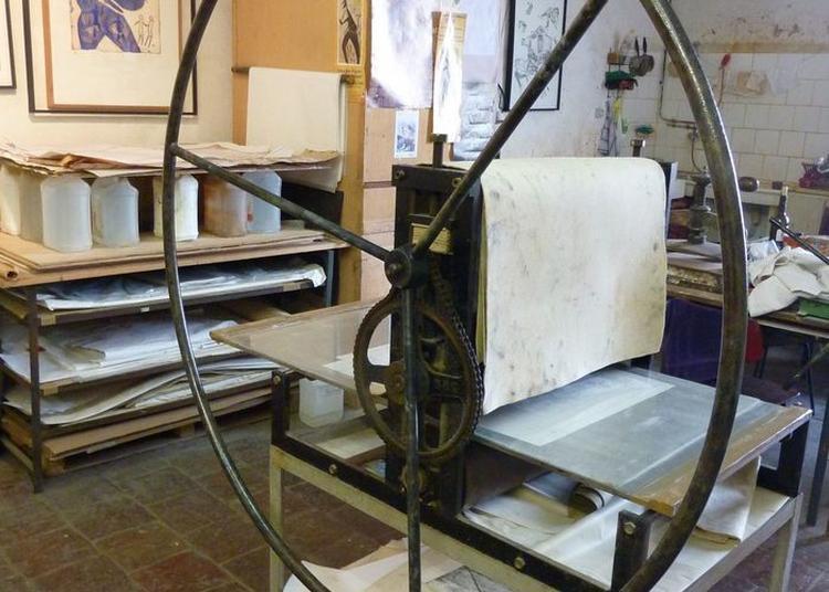 Visite De L'atelier M, Atelier De Recherche Et D'expérimentation En Gravure Taille-douce à Marseille