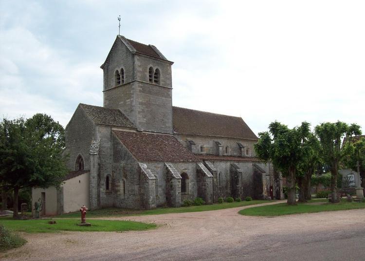 Visite De L'Église De Saint-gervais-sur-couches,  Xiiième Siècle, Classée Aux Monuments Historiques à Couches